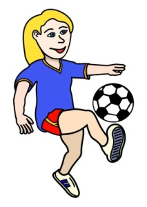 Ladies Football Cartoon