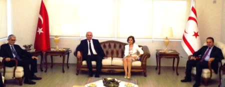 Turkish FM visits TRNC