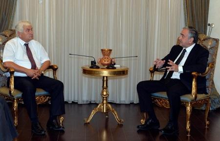 Arslan Bıçaklı and President Akinci