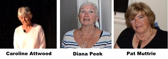 Caroline, Diana, Pat