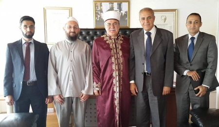Egypt Ambassador Mubarak visited President of Religious Affairs Atalay