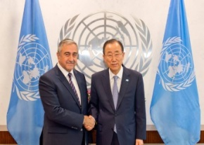 Mustafa Akinci and Ban Ki-Moon image