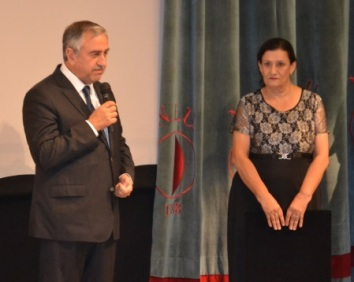 President Akinci and Raziye Kocaismail
