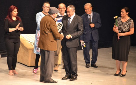 President Akinci thanks Osman Balikcioglu