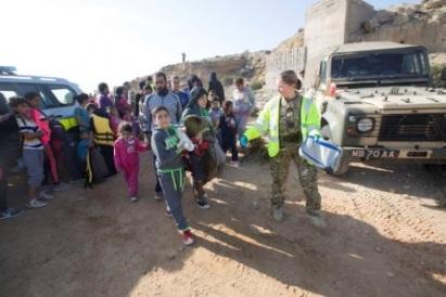 Refugees seek asylum
