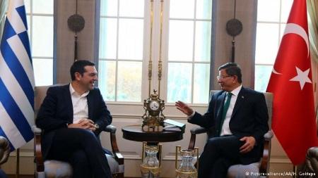 Alexis Tsipras and Ahmet Davutoglu