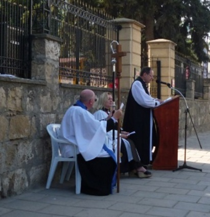 Bishop of Cyprus and the Gulf, Revd Wendy Hough, Rt. Revd. Michael Lewis,