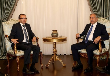 Espen Barth Eide and President Akinci