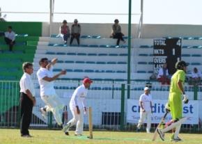 Girne's bowler Rehmat Khatttak in action image