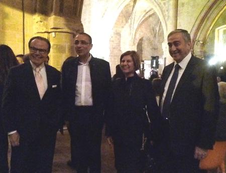 Mehmet Mustafoglu, Fikri Toros, Meral Akinci and President Mustafa Akinci