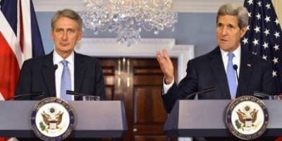 Philip Hammond and John Kerry