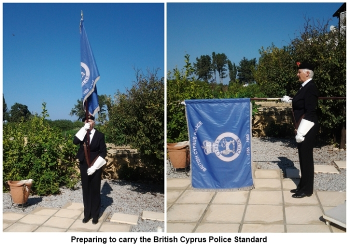 Preparing to carry the British Cyprus Police Standard