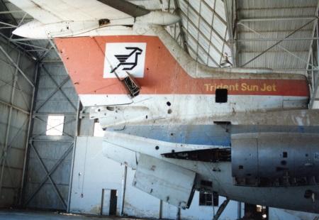 Trident in hangar 3