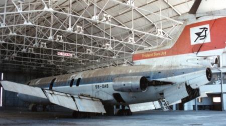 Trident in hangar