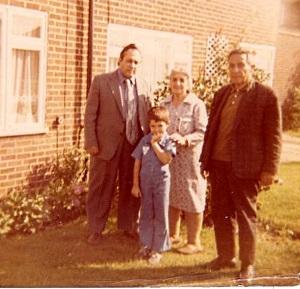 Yusuf, Nahide, Erbil and son Ziya (Yusuf) circa 1975-76