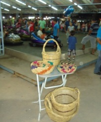 baskets and dodge'em cars at panayir