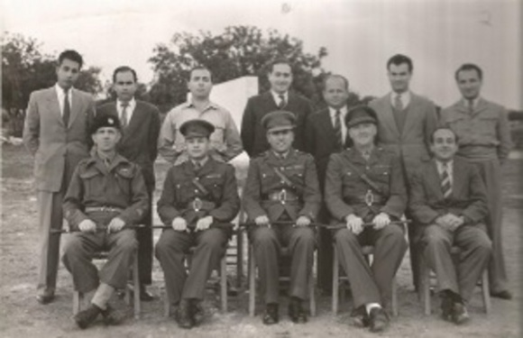 Faik Müftüzade (middle seated) Polymitya Camp 1946