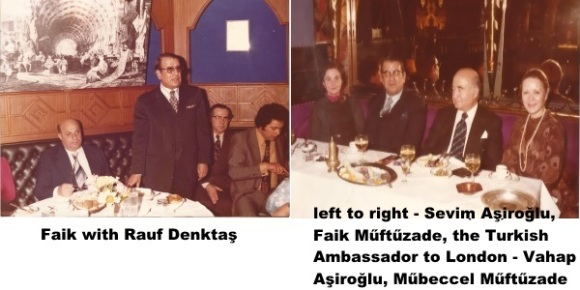 Faik with Denktas and Vahap Aşiroğlu - dual photo