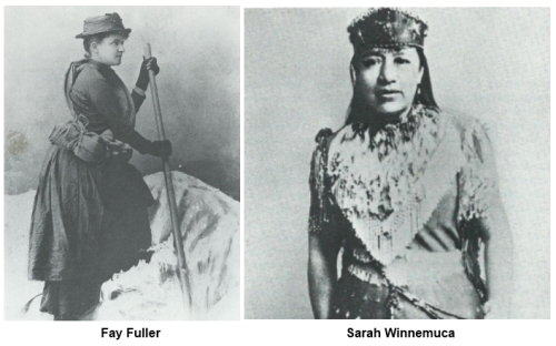 Fay Fuller and Sarah Winnemuca