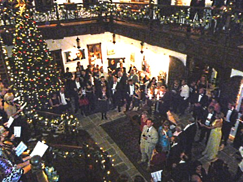 Guests join in carol singing