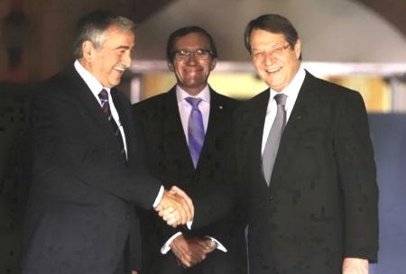Mustafa Akinci, Espen Barth Eide, Nikos Anastasiades