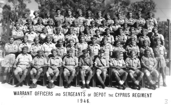 Warrant Officers and Sergeants - Cyprus Regiment 1946