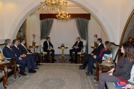 Akıncı received delegations of CHP