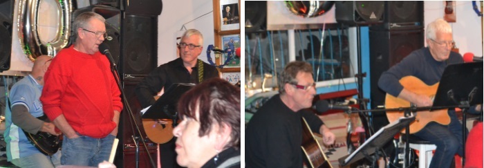 Billy sings and Peter and Mike