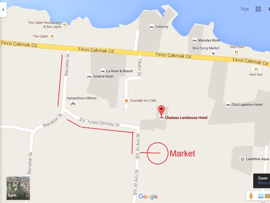 Lambousa Market map