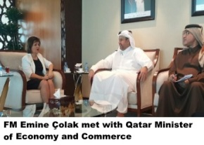 Emine Colak and Qatar Minister of Economy and Commerce image