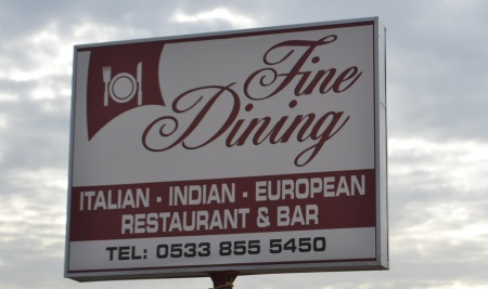 Fine Dining sign