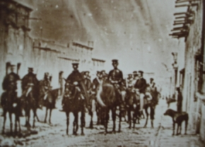 General Wool (left of center) at Saltillo Mexico 1847 image