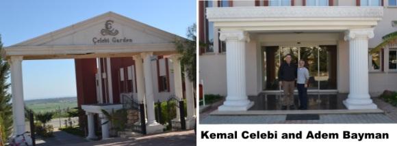 Kemal and Adem Front of Celebi Garden Hotel