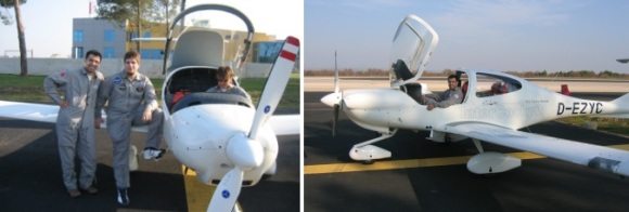 Student pilots undergoing flight training at Zadar, Croatia
