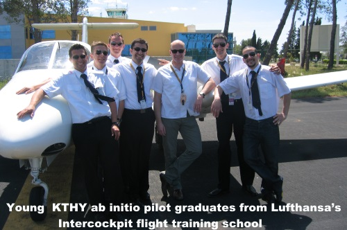 Young KTHY ab initio pilot graduates from Lufthansa's Intercockpit flight training school