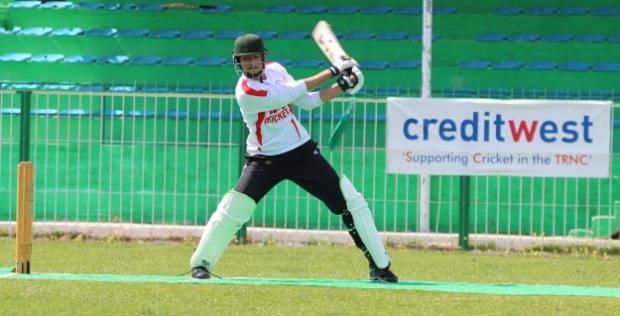METU batting against EMU. 2