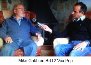 Mike Gobb on BRT2 Vox Pop