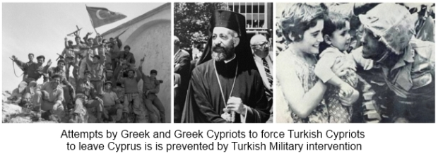 Turkey prevents Greek takeover of Cyprus