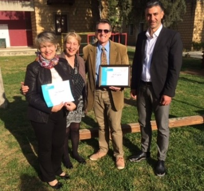 l-r ELA teacher Figen Rasmussen, ELA founders Billie and Tom Roche, SOS Programme Manager Ahmet Akarsu.