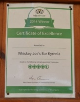 Trip Advisor - Whiskey Joe's