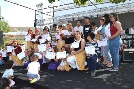 Children receive certificates