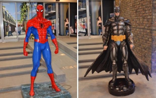Spiderman and Batman