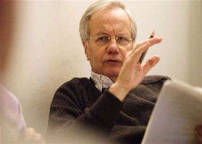 """Veteran journalist Bill Moyers, shown in this undated photo provided by PBS, returns to the network in April with a weekly public affairs series called """"Bill Moyers Journal,"""" the same name as his first public television series 35 years ago. Before moving to its Friday night slot, the show premieres on Wednesday, April 25 at 9 p.m. EDT with a documentary report, """"Buying the War,"""" about the role of the press in the run-up to the invasion of Iraq. (AP Photo/PBS, Peter Krogh)"""