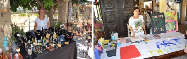 Evsen Dogacan Jewellery and Art Therapy stalls