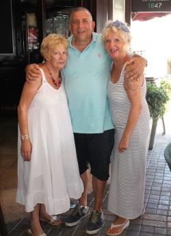 l-r Mary Watson, George Fehatoglu, Judy Vizzard