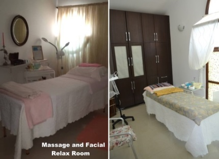 Massage and Facial - relax rooms