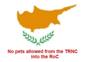No pets into Roc from the TRNC