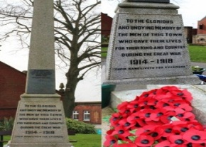 War memorial 1918 , thanks to Helen Edwards IMAGE