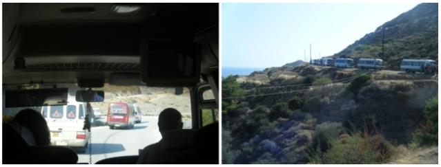 Coach convoy arrives in Erenkoy