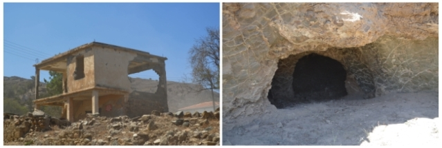 Erenkoy ruins and caves used by the residents